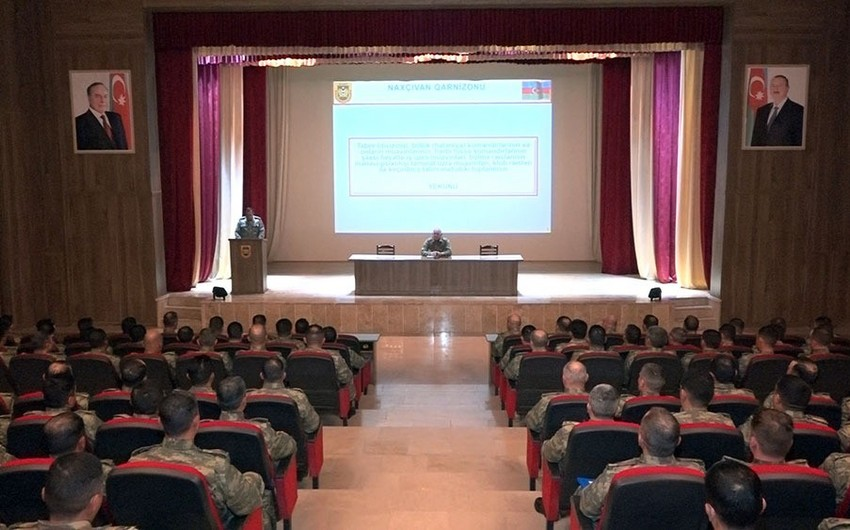 Training-methodological sessions conducted in troops of the Nakhchivan garrison - VIDEO