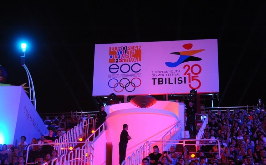 Azərbaycan idmançıları Tbilisidə Avropa Gənclərinin Olimpiya Festivalında mübarizəyə başlayıblar