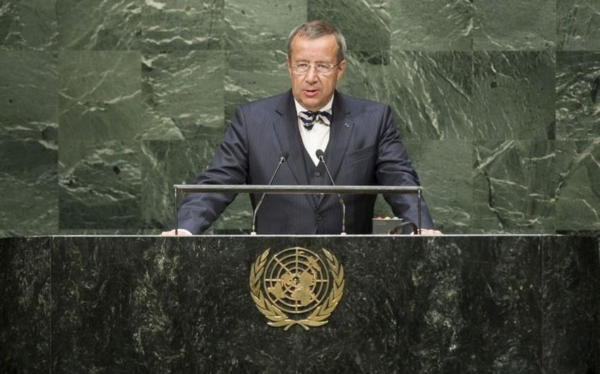 Президент Эстонии: Российская агрессия и замороженный конфликт Нагорном Карабахе продолжаются