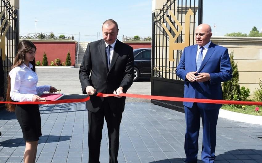 Президент Ильхам Алиев принял участие в открытии Хачмазского филиала ОАО Азерхалча