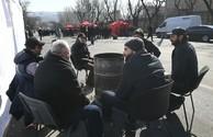В Ереване протестующие вторые сутки ночуют в палатках