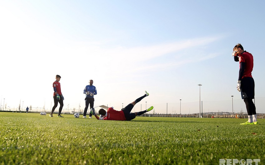 Azerbaijani team holds last training before match with Portugal - PHOTOS