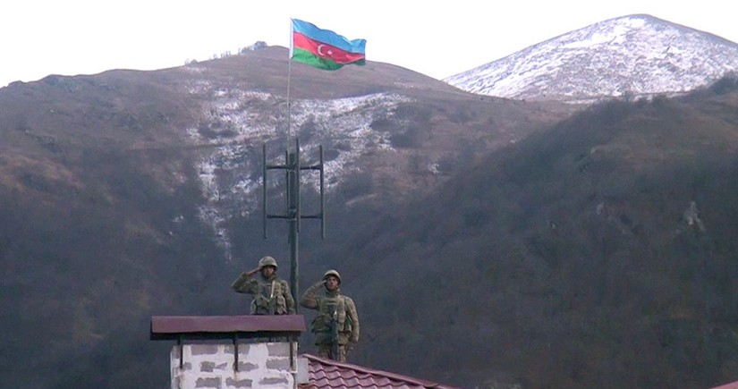 Azerbaijani flag raised in Kalbajar