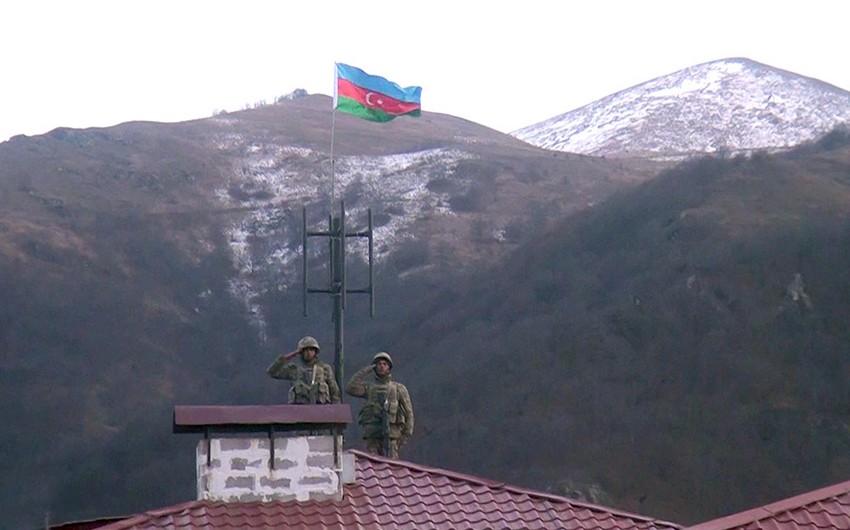 Azerbaijani flag raised in Kalbajar
