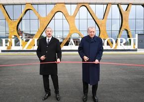 Azerbaijani, Turkish Presidents inaugurate Fuzuli International Airport