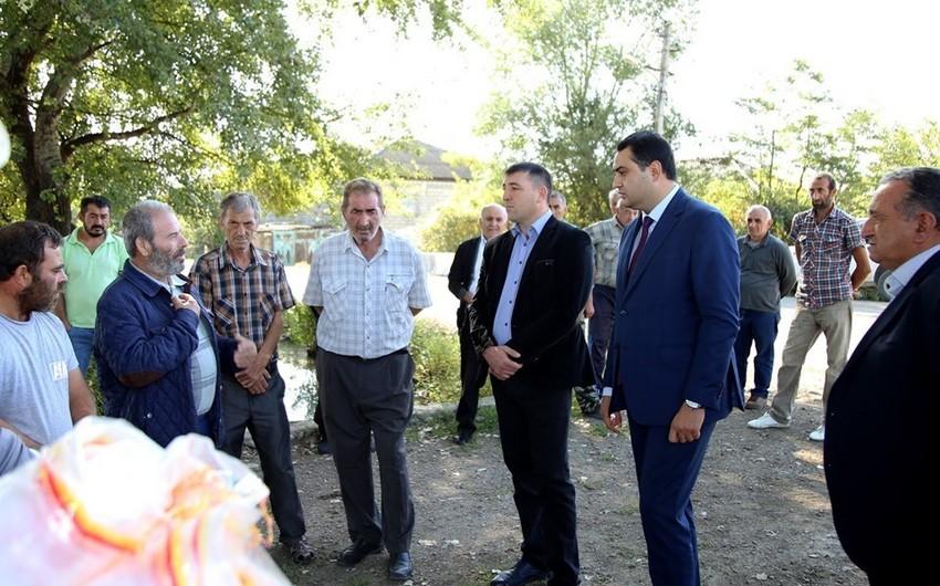 Gürcüstanda azərbaycanlıların yaşadığı daha bir kənd içməli su ilə təmin olunub