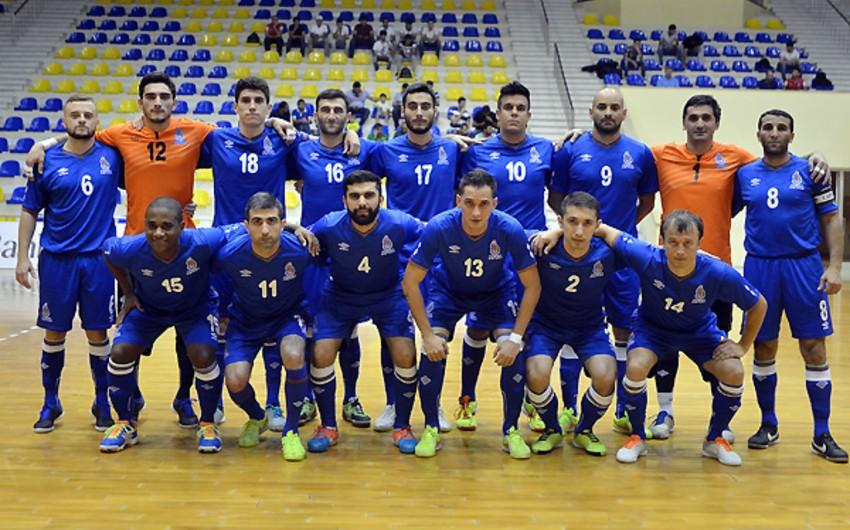 Azərbaycan futzal millisinin dünya çempionatının seçmə mərhələ oyunları üçün heyəti açıqlanıb