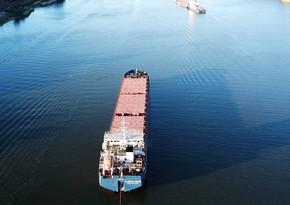 Ship sailing from Russia to Iran runs ashore in Caspian Sea