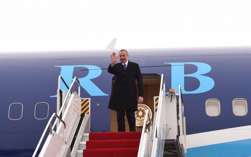 Завершился визит президента Ильхама Алиева в Нахчыван