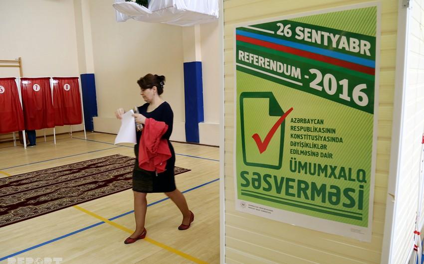 Утверждены результаты прошедшего в Азербайджане референдума