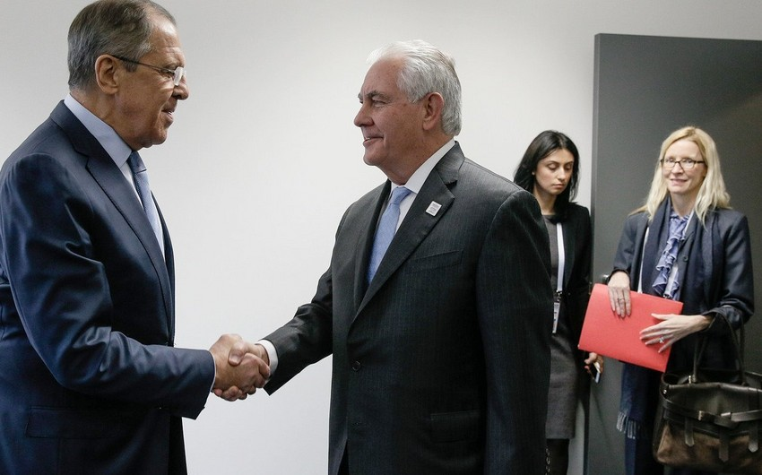 Sergei Lavrov and Rex Tillerson meet in Moscow