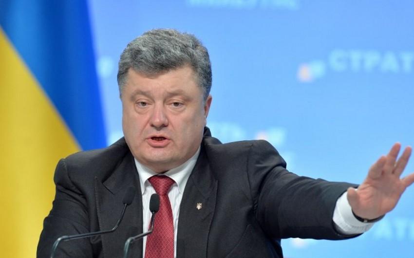 Poroşenko: ABŞ silahları Donbassın azad olunmasında Кiyevə kömək edəcək