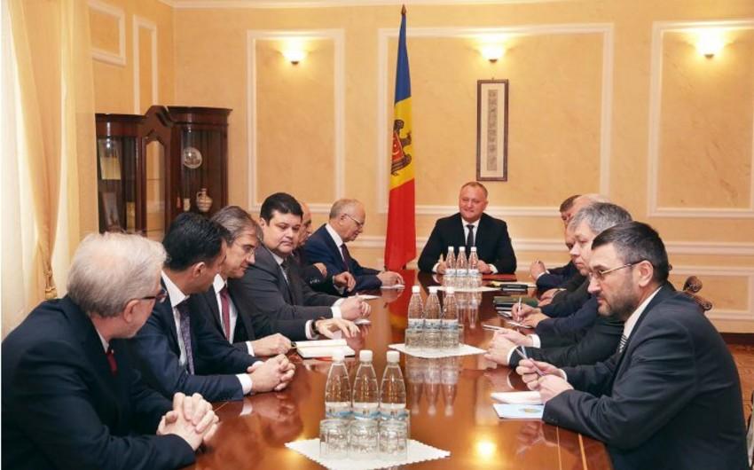 Moldova prezidenti MDB dövlətlərinin səfirlərilə görüşüb