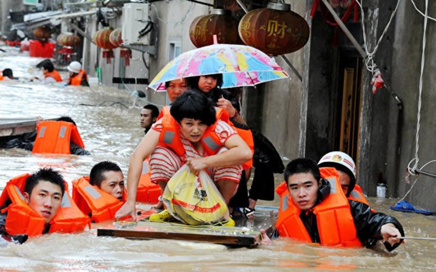 Çində daşqınlar 44 nəfərin həyatına son qoyub