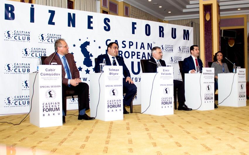 Caspian Energy Forum 2017nin Azərbaycanda İKT sektorunun inkişafına həsr olunmuş xüsusi sessiyası keçirilib