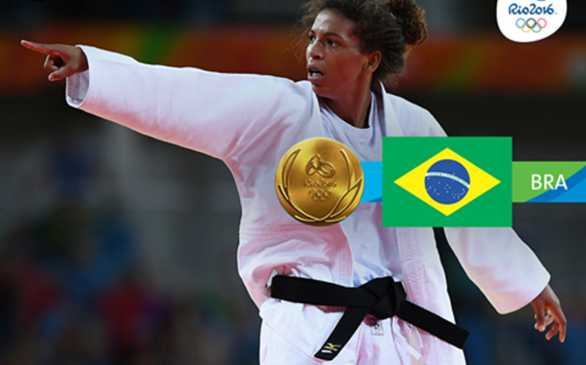 Braziliya Yay Olimpiya Oyunlarında ilk qızıl medalını qazanıb