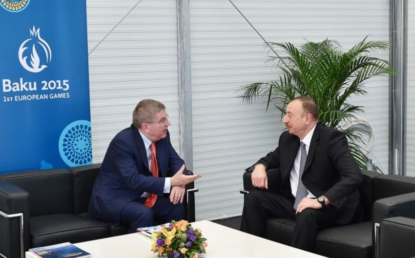 Ильхам Алиев встретился с президентом Международного Олимпийского комитета