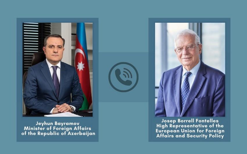 Jeyhun Bayramov informs EU representative about Armenia's attacks