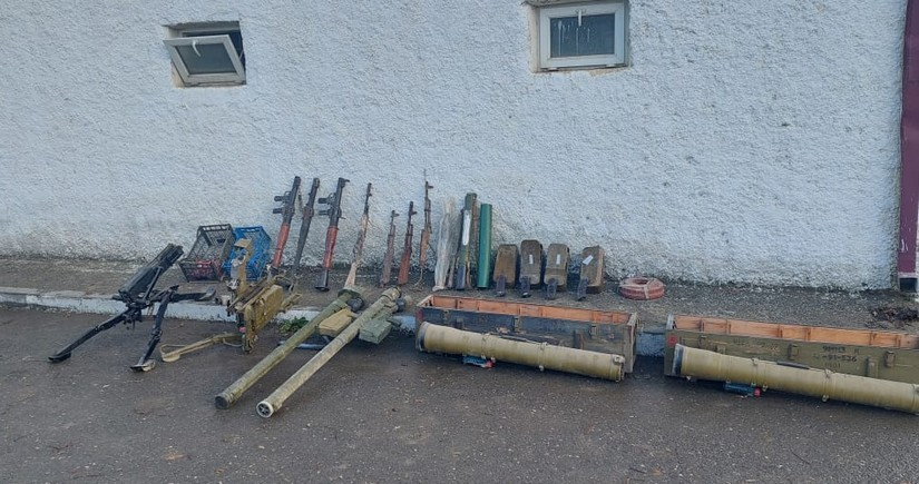 Khojavand police find weapons left behind by retreating Armenians
