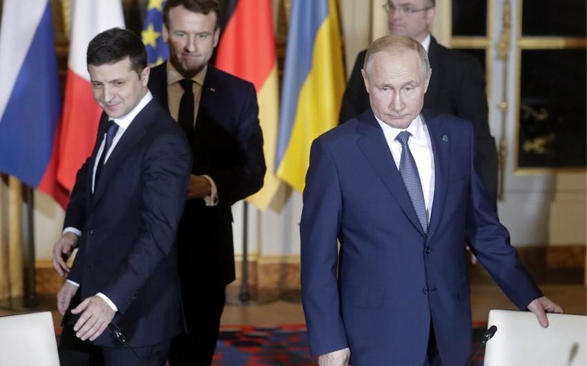 Zelenski Putinlə nə vaxt görüşəcəyindən danışıb
