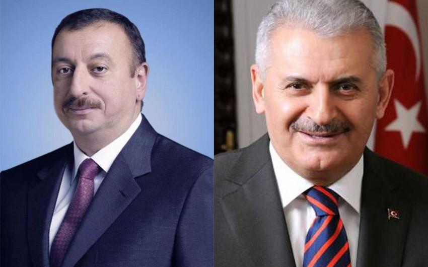 Azərbaycan Prezidenti ilə Türkiyənin yeni baş naziri arasında telefon danışığı olub