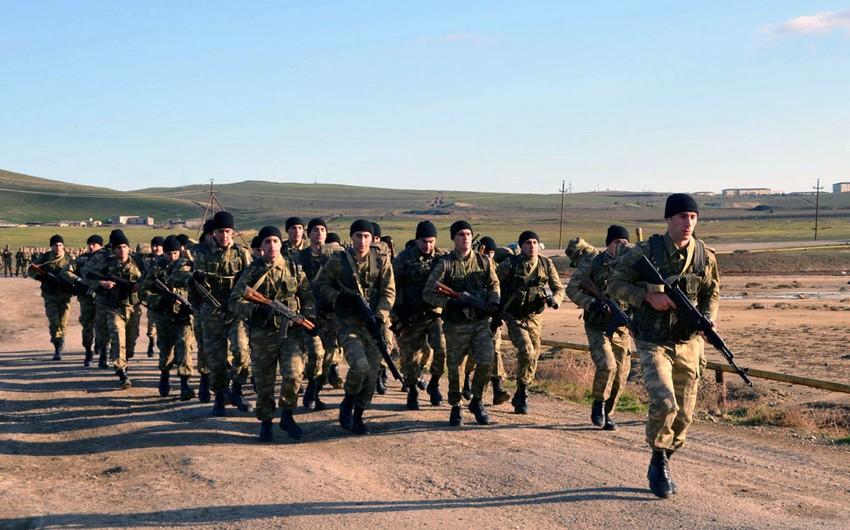 Azərbaycan Ali Hərbi Məktəbi kursantlarının çöl təlimləri başlayıb