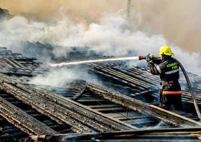 В Гяндже произошел пожар в жилом доме