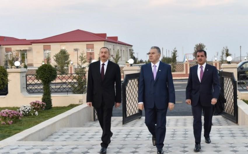 Azərbaycan Prezidenti Gəncədə məcburi köçkün ailələri üçün salınan yeni qəsəbənin açılışında iştirak edib