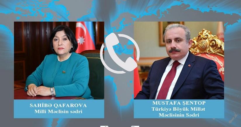Azərbaycan və Türkiyə parlament sədrləri telefonla danışıb