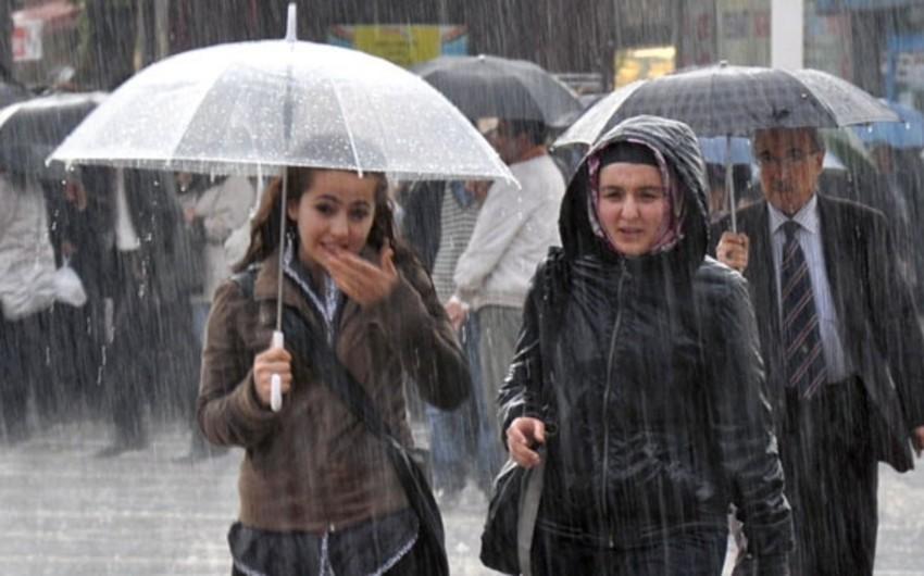 Azərbaycanda yağışlı hava davam edəcək, bəzi yerlərdə qar yağacaq