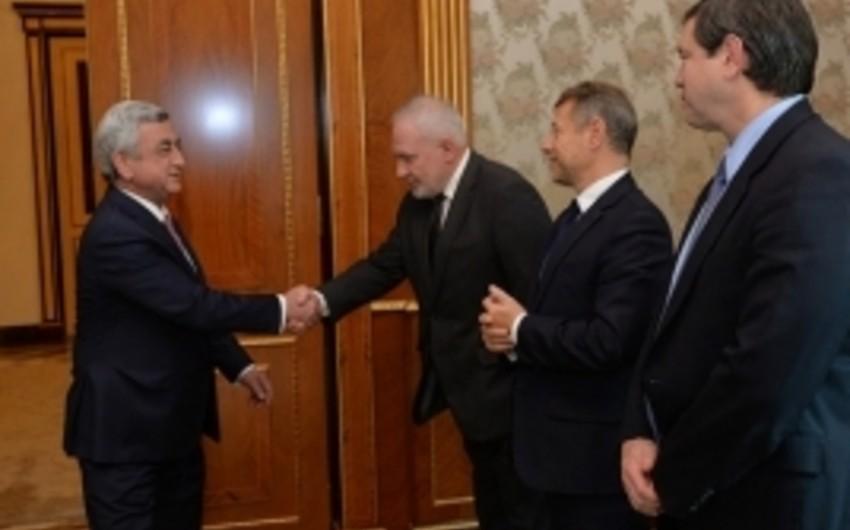 Президент Армении принял сопредседателей МГ ОБСЕ