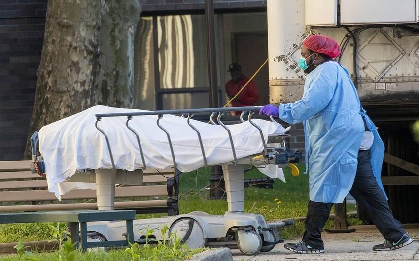 ABŞ-da gün ərzində koronavirusdan ən yüksək ölüm sayı qeydə alındı