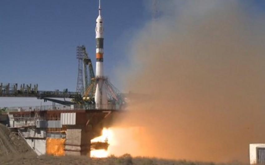 Rusiyaya məxsus Soyuz raketinin buraxılışı zamanı qəza baş verib - VİDEO