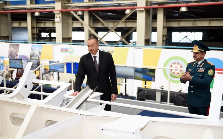 Президент Азербайджана ознакомился с недавно построенным пограничным сторожевым кораблем типа Туфан
