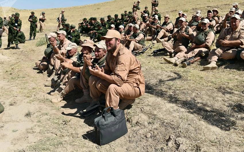 Rusiya hərbçiləri Tacikistanda təlim keçirir