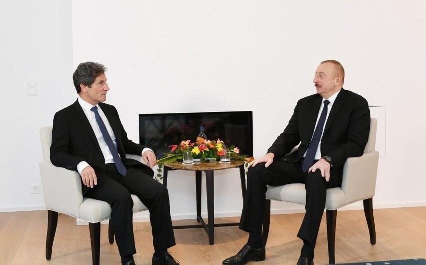 """Azərbaycan Prezidenti """"Lazard Freres"""" şirkətinin baş icraçı direktoru ilə görüşüb"""