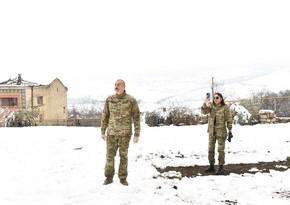 Dövlət başçısı: Bərdə-Ağdam yolunun çəkilişi yaxın gələcəkdə icra ediləcək