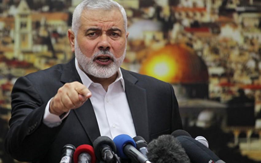 HƏMAS lideri Qəzzada aksiyaların davam etdiyini bildirib
