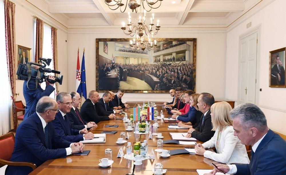 Президент Азербайджана встретился с председателем парламента Хорватии