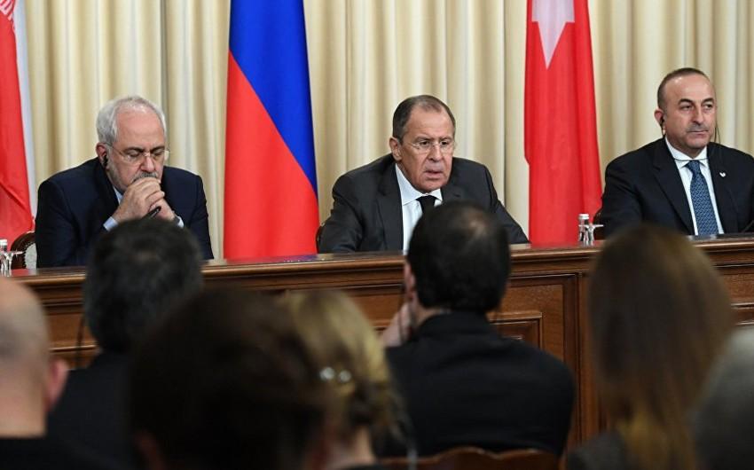 Türkiyə, Rusiya və İranın XİN başçıları Moskvada görüşəcək