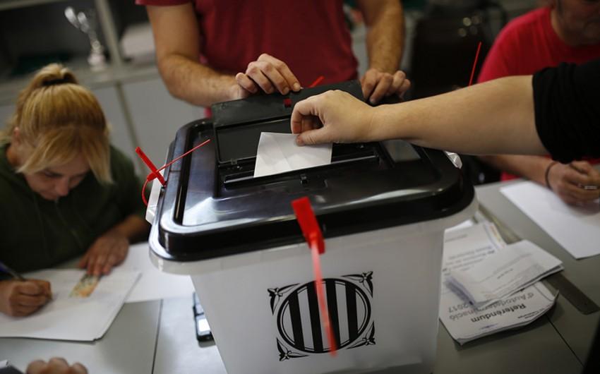 Kataloniyada referendum başa çatıb