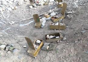 В Агдаме обнаружены брошенные бежавшей армянской армией боеприпасы