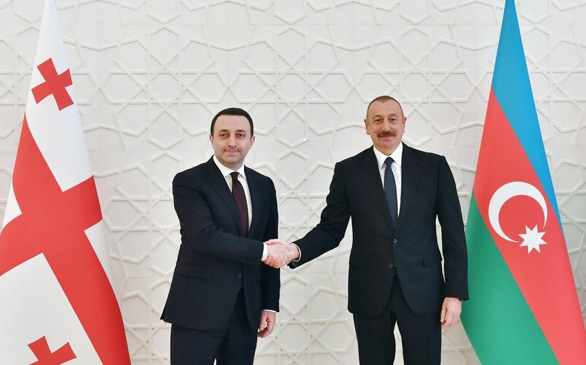 Prezident İlham Əliyev Gürcüstanın Baş naziri İrakli Qaribaşvilini təbrik etdi