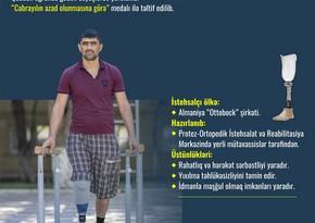 66 qazimiz yüksək texnologiyalı protezlərlə təmin edilib