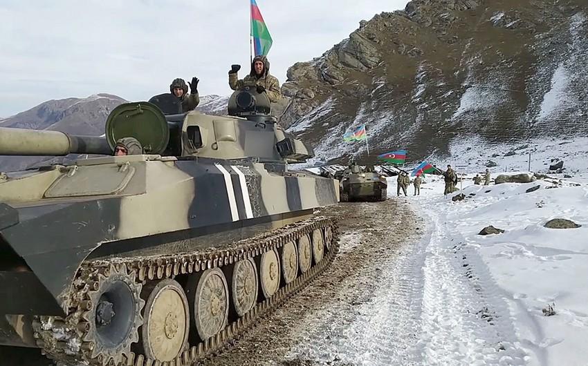Новые кадры продвижения Азербайджанской Армии в Кельбаджаре
