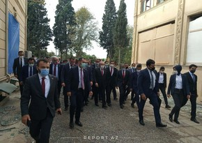 Speaker of Turkish parliament arrives in Ganja