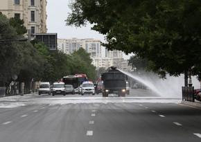 В Баку проводятся очередные дезинфекционные работы