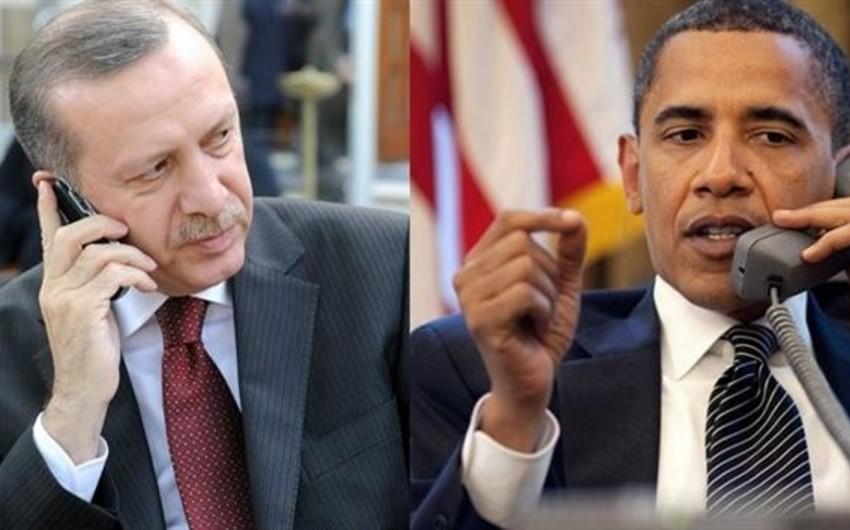 Obama və Ərdoğan Suriyadakı vəziyyəti və İŞİD-lə mübarizəni müzakirə edib