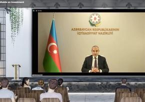 İqtisadiyyat naziri 7-ci Dünya İnvestisiya Forumunda çıxış edib
