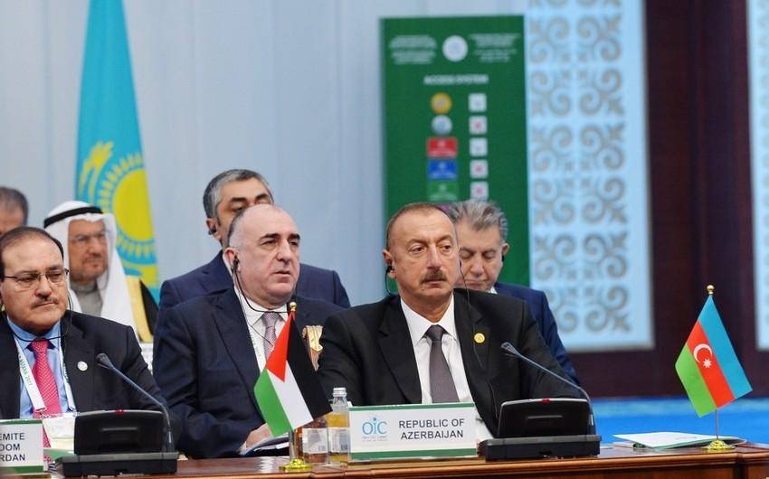 Prezident İlham Əliyev: Azərbaycan üzv olduğu beynəlxalq təşkilatlarda müsəlman ölkələrini daim dəstəkləyir